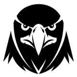 Eagle-zwart-wit gezicht stock illustratie