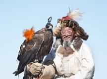Eaglehunter con l'aquila dorata immagini stock libere da diritti