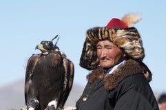 Eaglehunter mit goldenem Adler Lizenzfreie Stockbilder
