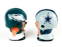 Eagles против ` L диаграммы CowboysLi игрушки товарищей по команде Стоковое Изображение