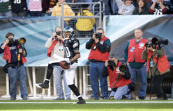 Eagles. DeSean Jackson celebrates after his touchdown in the first quarter at Philadelphia. 11/29/2009 Stock Image