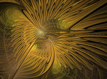 Eagles. Abstract fractal in yellow or gold colors Royalty Free Stock Images