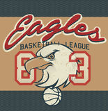 Eagles Basketball league jersey print Stock Photography
