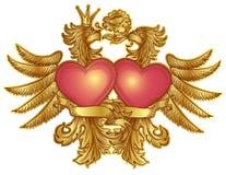 Eagles com corações Fotografia de Stock Royalty Free