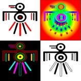 Eagles dans le type des Indiens d'Amerique illustration libre de droits