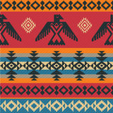 Eagles ethnic pattern on native american style Royalty Free Stock Photography