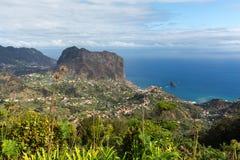 Eagles-Felsen auf der Nordküste von Madeira nahe Porto DA Cruz Lizenzfreies Stockfoto