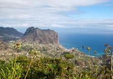 Eagles-Felsen und Porto DA Cruz auf der Nordküste von Madeira Stockbild