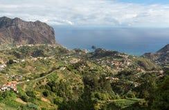Eagles-Felsen und Porto DA Cruz auf der Nordküste von Madeira Stockfotos