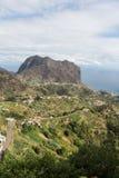 Eagles-Felsen und Porto DA Cruz auf der Nordküste von Madeira Lizenzfreie Stockbilder