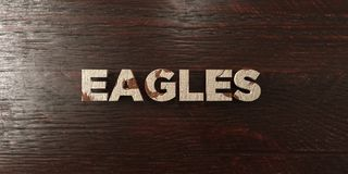 Eagles - grungy wooden headline on Maple  - 3D rendered royalty free stock image Stock Photos