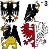 Eagles héraldique vol.3 Images stock