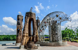Eagles head. Made of metals concrete and wood, new landmark at krabi town along the river Stock Photography