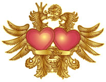 Eagles with hearts Royalty Free Stock Photography