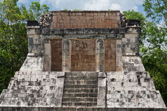 Eagles and Jaguars Platform Chichen Itza Stock Photography