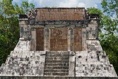 Eagles and Jaguars Platform Chichen Itza. The Eagles and Jaguars Platform temple in the archaeological mayan site of Chichen Itza, Yucatan Peninsula, Mexico Stock Photography