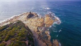 Eagles Nest, Australia. Scenic aerial view of Eagles Nest in Cape Paterson, Victoria, Australia Royalty Free Stock Photos