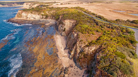 Eagles Nest, Australia. Scenic aerial view of Eagles Nest in Cape Paterson, Victoria, Australia royalty free stock photo