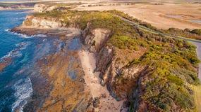 Eagles Nest, Australia. Scenic aerial view of Eagles Nest in Cape Paterson, Victoria, Australia Royalty Free Stock Photo