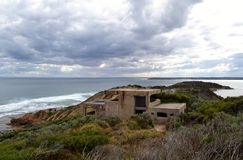 Fort Nepean Enemy Lookout stock photo