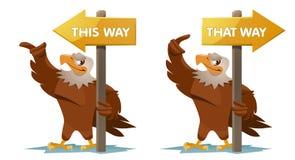 Eagles rymmer en vägvisare Arkivbilder