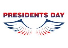 Eagles wings in the colors of the American flag - Presidents Day Royalty Free Stock Photo