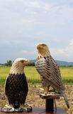 Eagles wood carving Royalty Free Stock Image