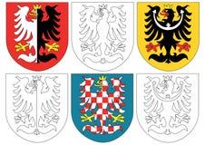 Eagls an den historischen Blazons Lizenzfreies Stockbild