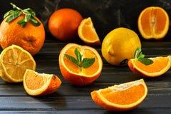 ealthy het eten concept, verse citrusvruchten stock afbeelding