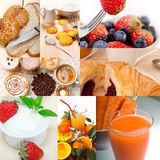 Ealthy vegetarian breakfast collage Stock Photography