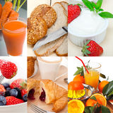 Ealthy vegetarian breakfast collage Stock Photo