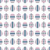Eamless Muster S mit Ostereiern Bestellte Verzierung Auch im corel abgehobenen Betrag stock abbildung