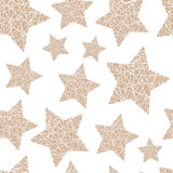 Eamless pattern Christmas five-pointed stars of the thread on a light background Royalty Free Stock Images