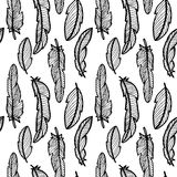 Eamless pattern with feathers Royalty Free Stock Image
