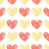 Eamless pattern with grunge hearts. Seamless pattern with grunge hearts. design for Valentine`s Day Stock Photography
