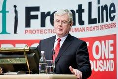 Eamon Gilmore T.D., ministre des affaires étrangères Photos stock