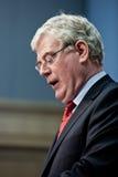 Eamon Gilmore T.D., ministre des affaires étrangères Images stock