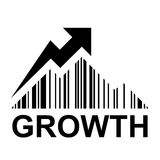 EAN barcode mountain growth profit symbol Royalty Free Stock Photography