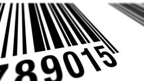 EAN barcode scanning, loop. Loop: EAN bar code scanning process, seamless stock illustration