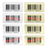 EAN barcode stickers Stock Photos