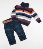 Eans and colorful sweater for children Stock Photography
