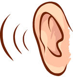Ear. Vector human ear symbols illustration royalty free illustration