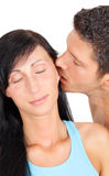 Ear bite couple Stock Photo