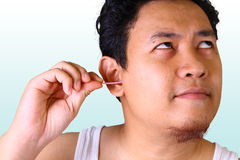Ear Cleaning Royalty Free Stock Image