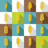 Ear corn icons set, flat style Stock Photos