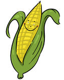 Corn cartoon. Corn on the cob cartoon; Ear of corn illustration Royalty Free Stock Photography