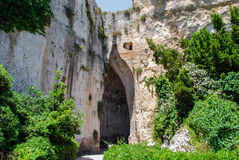 The ear of Dionysius in Syracuse. Sicily Stock Photo