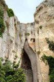 Ear of Dionysus - cave in Siracusa. Royalty Free Stock Images