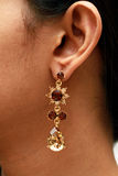 Ear with earring. Royalty Free Stock Photos