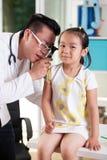 Ear examination at pediatrician's office Royalty Free Stock Photography